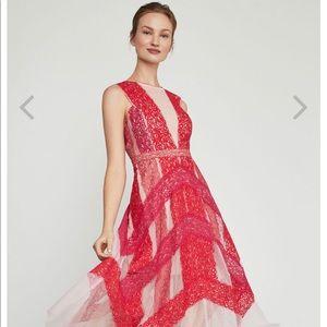 BCBG MAXAZRIA Floral Lace Dress